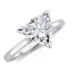 triangular cut wedding rings